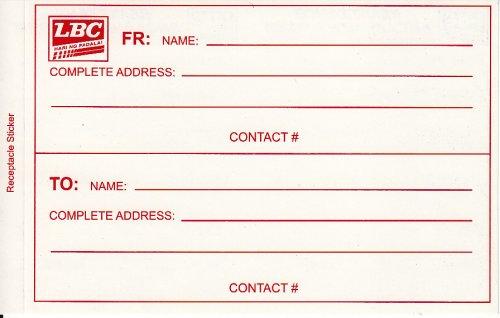 LBC Express Door-to-Door Cash Padala Form